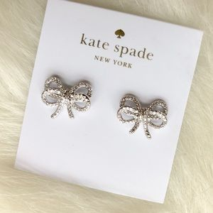 Kate Spade ♠️NWT Silver Delicate Bow 🎀 Earrings